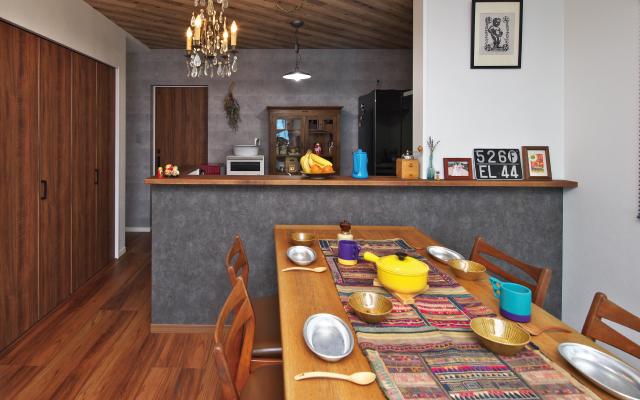 インダストリアルテイストの家の画像